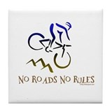 NO ROADS NO RULES Tile Coaster