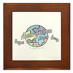 Autism Awareness Globe Framed Tile