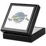 Autism Awareness Globe Keepsake Box