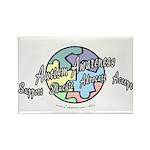 Autism Awareness Globe Rectangle Magnet (100 pack)