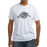 Autism Awareness Globe Fitted T-Shirt