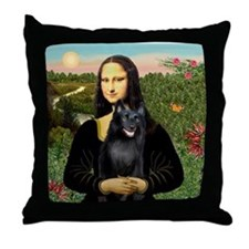 Mona's Schipperke (#5) Throw Pillow