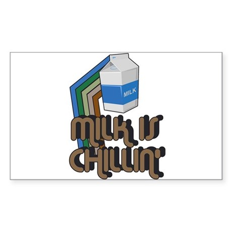Milk is Chillin' Rectangle Sticker