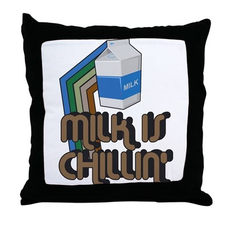 Milk is Chillin' Throw Pillow