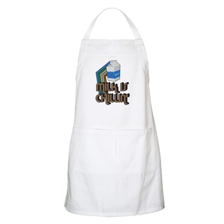 Milk is Chillin' BBQ Apron