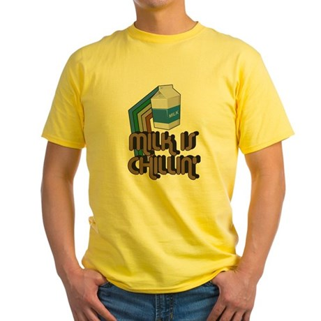 Milk is Chillin' Yellow T-Shirt