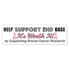 Help Support 2nd Base Bumper Bumper Sticker