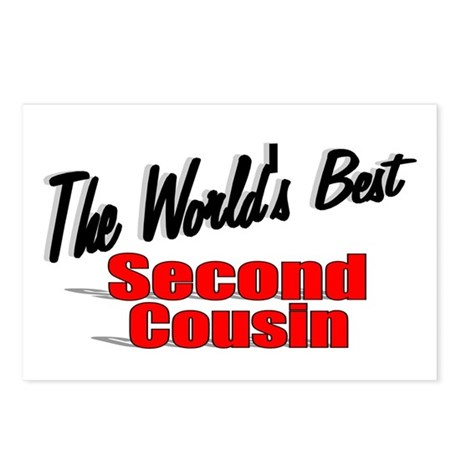 """The World's Best Second Cousin"" Postcards (Packag"