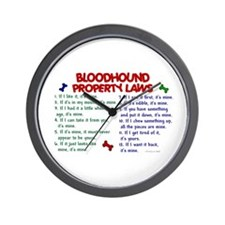 Bloodhound Property Laws 2 Wall Clock