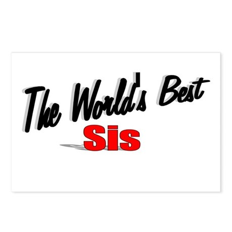 """The World's Best Sis"" Postcards (Package of 8)"