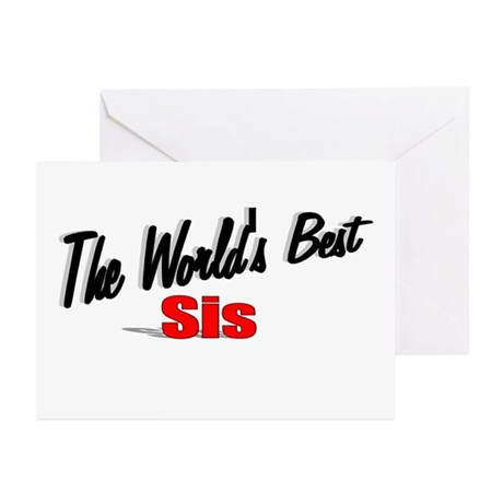 """The World's Best Sis"" Greeting Cards (Pk of 10)"