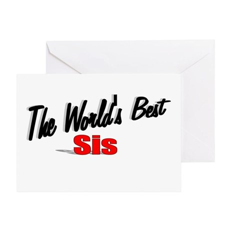 """The World's Best Sis"" Greeting Card"