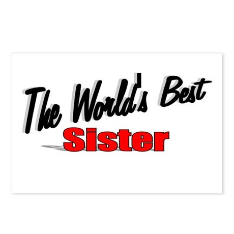 """The World's Best Sister"" Postcards (Package of 8)"