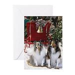 Sheltie Sleigh Christmas Greeting Cards (Pk of 20)