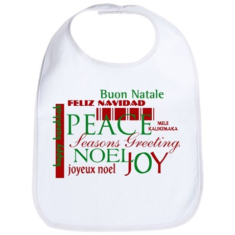 Season's Greetings Bib