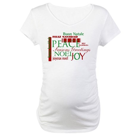 Season's Greetings Maternity T-Shirt