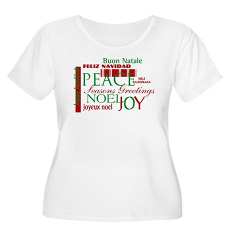 Season's Greetings Women's Plus Size Scoop Neck T-