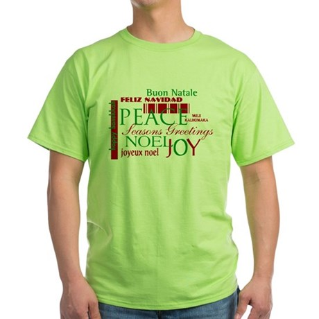 Season's Greetings Green T-Shirt
