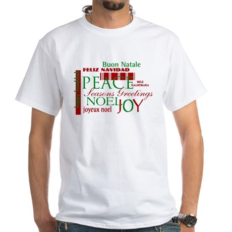 Season's Greetings White T-Shirt