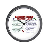 Border Collie Property Laws 2 Wall Clock