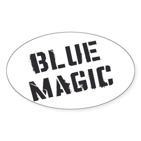 Blue Magic Oval Sticker