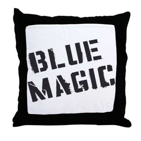 Blue Magic Throw Pillow
