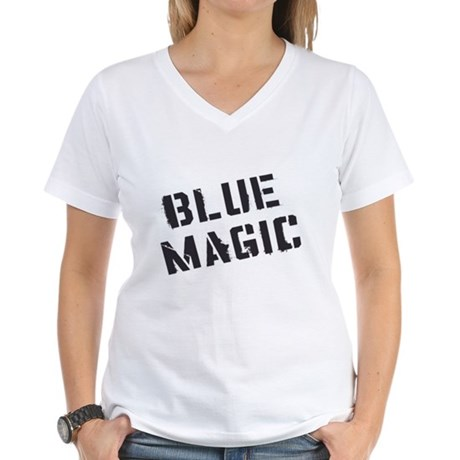 Blue Magic Womens V-Neck T-Shirt