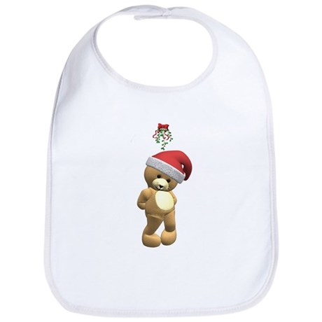 Christmas Teddy Bear Bib