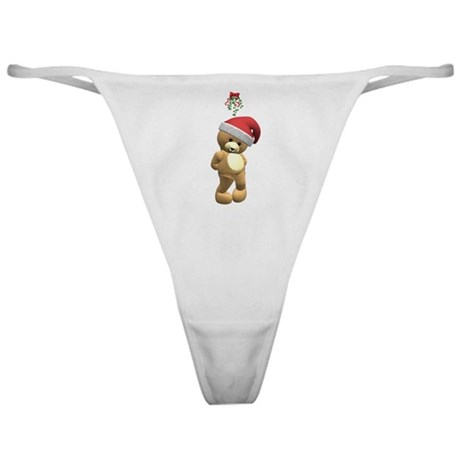 Christmas Teddy Bear Classic Thong