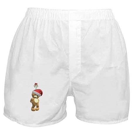 Christmas Teddy Bear Boxer Shorts