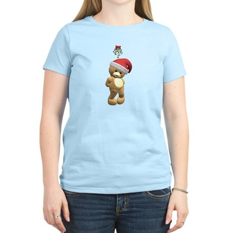 Christmas Teddy Bear Women's Light T-Shirt