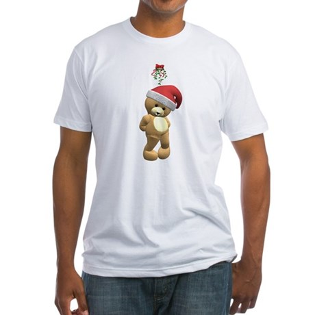 Christmas Teddy Bear Fitted T-Shirt