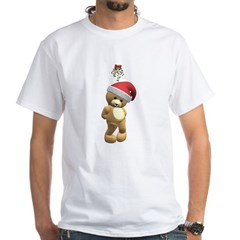 Christmas Teddy Bear White T-Shirt