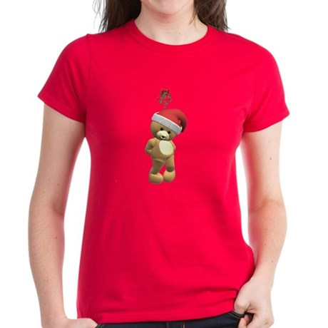 Christmas Teddy Bear Women's Dark T-Shirt