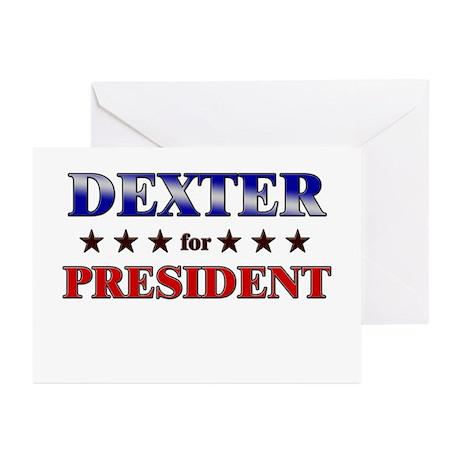 DEXTER for president Greeting Cards (Pk of 20)