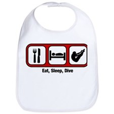 Eat, Sleep, Mens Diving Bib
