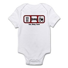 Eat, Sleep, Farmer Infant Bodysuit