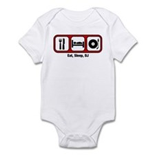 Eat, Sleep, DJ Infant Bodysuit