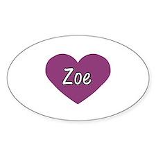 Zoe Oval Decal