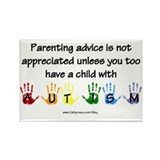 Autism Parenting Rectangle Magnet (100 pack)