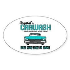 Crystal's Carwash Oval Decal
