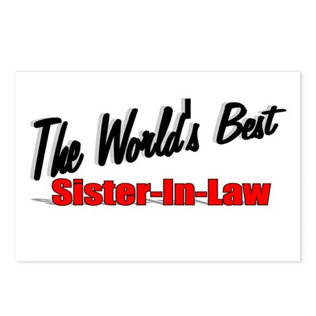 """The World's Best Sister-In-Law"" Postcards (Packag"