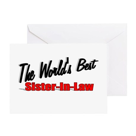 """The World's Best Sister-In-Law"" Greeting Card"