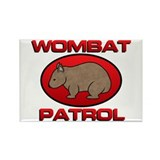 Wombat Patrol III Rectangle Magnet (100 pack)