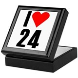 I love 24 Keepsake Box