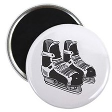 Black Hockey Skates Magnet