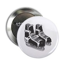"Black Hockey Skates 2.25"" Button (10 pack)"