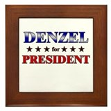 DENZEL for president Framed Tile