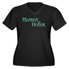 Matron Of Honor - Pale Green Women's Plus Size V-N
