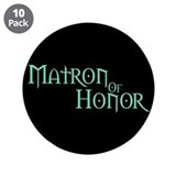 "Matron Of Honor - Pale Green 3.5"" Button (10 pack)"